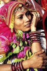 Portraitof a Lady dresssed for the Gangaur festival, Udaipur, Rajasthan