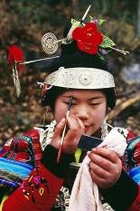 Portrait of Miao Ethnie , Guizhou, CHINA