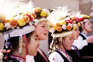 Bulgarie. Bistritsa. Fête de Lazaruvane. Chants